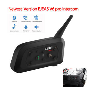 EJEAS V6 Pro 6 Riders 1200M Motorcycle BT Interphone Helmet GPS sun Waterproof