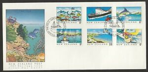 New Zealand 1989 FDC New Zealand Heritage 3rd Issue - The Sea