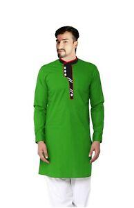 Indian Men's Cotton Shirt Wedding Wear Casual Tunic Ethnic Nice Shirt Plus Size