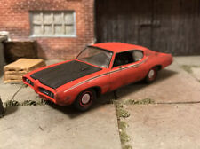 1969 Pontiac GTO Rusty Weathered Barn Find Custom 1/64 Diecast Car Farm Rust M2