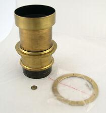 VITAX Portrait brass lens F3,8 No. 3 Messing Wollensak Studio shutter style B 5