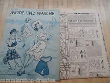26 Schnittmusterbogen  Mode und Wäsche 1942/43 Heft  1