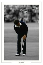 Seve Ballesteros'84 Open Golf Autógrafo Foto firmada impresión