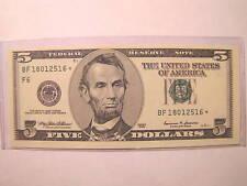 1999 Five Dollar Atlanta Fed Star Note CU