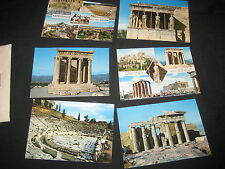 6 scenes of Greece Post Cards, Bought at the 1963 World Jamboree       c7