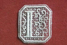 Oblong letter/initial L lace motif - applique/sew on trim/craft/card making