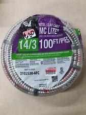 Solid MC Lite Cable AFC Protect Inner Conductors Aluminum Interlocking Circuits