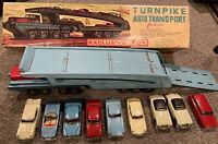 Vintage SSS 1960s Sears Tin Friction Turnpike Auto Transport Original Box Rare