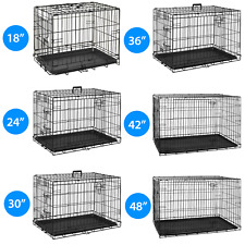 Pet Cage Strong Metal Travel Crate Training Carrier Dog Cat Puppy Vet With Tray