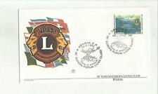 136383 RARA BUSTA FILATELICA  LIONS CLUB LIONS INTERNATIONAL