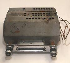 Vintage 1953-54 Chevrolet Auto Car Dash AM Tube Radio With Knobs Intact