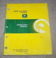 John Deere  9300T & 9400T Operators Manual Used B4