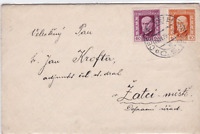 czechoslovakia 1926 letter & stamps cover with poster stamp ref r15559