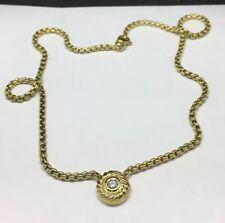 "David Yurman 18K Yellow Gold Diamond Cookie Necklace 16"""