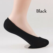 15 Pairs WOMEN Bamboo No Show LOW CUT INVISIBLE BOAT SOCKS With Heel-Grip SOL01