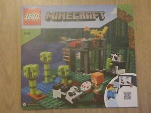 LEGO Minecraft The Panda Nursery (21158) - Instruction Manual Only