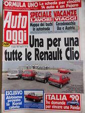 Auto OGGI n°185 1990 Test della Koral Cabrio - Tutte le Renailt Clio  [Q200]