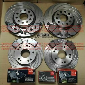 FITS MINI HATCH JCW R56 1.6 12-16 SLOTTED GROOVED FRONT & REAR DISCS + APEC PADS