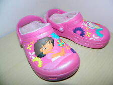 pink Crocs Dora the Explorer themed slip on clogs sandals uk 1.5 us 2 eur 33.5