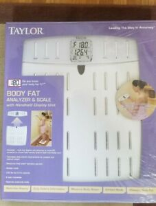 Taylor (5582) Wireless Body Fat Analyzer and Scale With Removable Display *READ*
