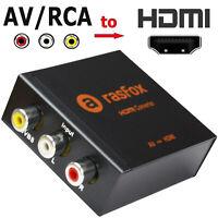AV RCA to HDMI Converter Adapter 1080P Upscaler N64 NES SEGA Xbox PS2 VCR DVD