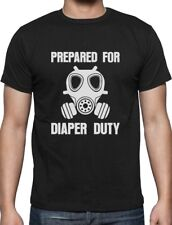 Prepared for Diaper Duty Funny New Parents Gift T-Shirt New Baby