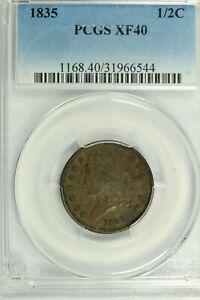 1835 Classic Head Half Cent : PCGS XF40