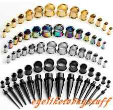 Lots 2-12mm Stainless Steel Taper Stretcher Plug Ear Tunnel Kit 14Set Expander