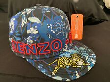 Kenzo Paris x H&M Authentic Blue Floral w/Tiger Baseball Hat EUC