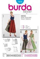 Burda Sewing Pattern Ladies Traditionally Fashionable Dirndl Size 12 - 30 7870