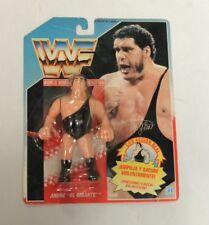 "Rare Hasbro WWF Andre ""the Giant"" Spanish Wrestling Figure, Blue Card 1990"