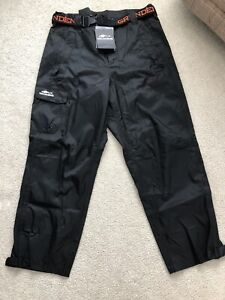Grundens Weather Watch Waterproof Sport Fishing Rain Pants - Black -Mens XXL 2XL