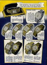 1951 PAPER AD 4 PG Westchester Wrist Watch Calendar 17 Jewel Self Winding