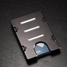 Aluminum Wallet/Credit Card Holder, BilletVault,RFID Protection, Made In USA BLK