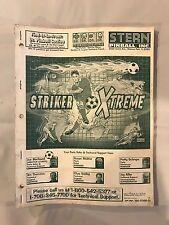 Stern Striker Xtreme Pinball Manual