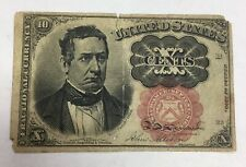 1874 10C Ten Cents U.S. Fractional Currency Note Bill Circulated