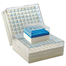 """Polycarbonate 100 cell 2"""" Cryo boxes- Pack/4 -- Holds 100 vials-"""