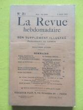 La Revue Hebdomadaire 1911 n° 31 André Chaumeix entretiens de Rodin sur l'Art