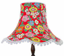Vintage lampshade in red Cath Kidston Camden floral for standard lamp or ceiling