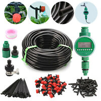 DIY Micro Drip Irrigation Auto Timer Self Plant Watering System Automatic Kit