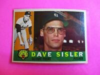 1960 TOPPS baseball Set Break #186 Dave Sisler Tigers, NmMt High Grade.