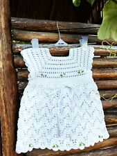 Crochet Baby Outfit  Newborn Girl Coming Home Layette Girl Dress Set 0-3 m