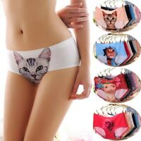 Panties french knickers Cat Anti Roomy Printing Seamless Pussycat Briefs