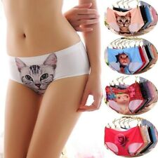 bragas culotte gato Anti Emptied Cat Printing Seamless Pussycat Panties Briefs