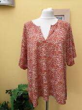 POETRY 100% linen top brown blue size 16 oversized bnwt