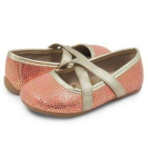 NIB LIVIE & LUCA Shoes Ballet Flats  Aurora Golden Coral Shimmer 7 8 10