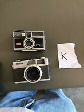 (2) Vintage Camera Canon Canonet 28 and Kodak 404 Instamatic camera