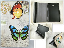"""COVER CASE TABLET FOR SAMSUNG GALAXY TAB 3 7"""" 7.0 T210 P3200 DRAWING BUTTERFLY"""