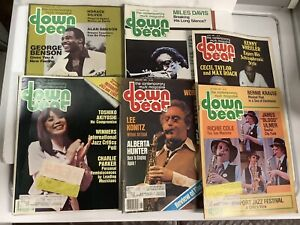 Vintage Lot Of 6 Down Beat Jazz Magazines 1980 Good Music Articles