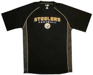 Pittsburgh Steelers NFL Mens Synthetic Fast Action Shirt  Black Big Sizes